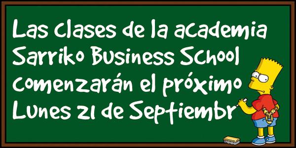El 21 de Septiembre comienzan las clases